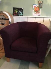 M&S purple tub chair