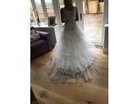 Unworn, brand new Chapel train multiple tier, multiple layer hooped wedding petticoat size 6-12