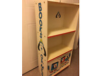 CHILDS BOOKCASE & GAMES CUPBOARD - LOVELY!
