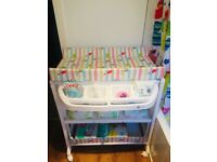 Baby change with bath - excellent condition