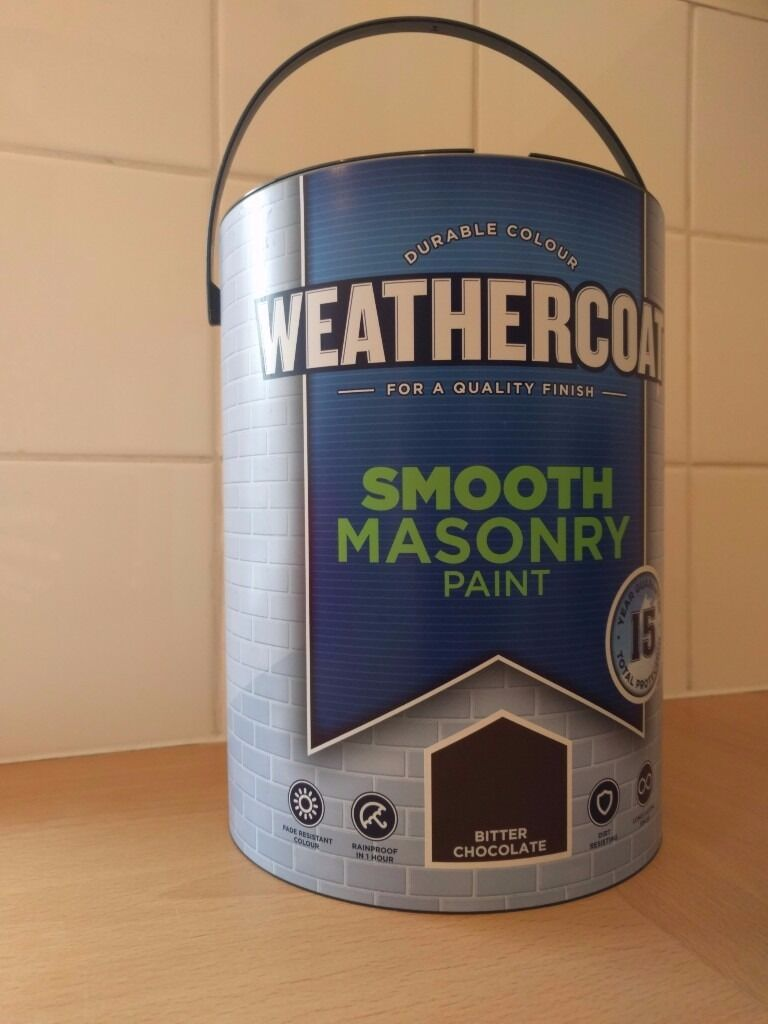 Brand New Unopened 5 Litre Can Of Homebase Weathercoat