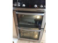 Zanussi electric double oven and ceramic hob