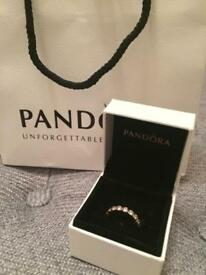 Pandora Rose Gold Sparkling Ring