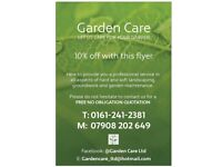Gardening & landscaping services Cheshire & Manchester Flagging Fencing Turfing Jetwashing Grass c