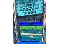 Storage crates - stackable heavy duty plastic (50 available FREE)