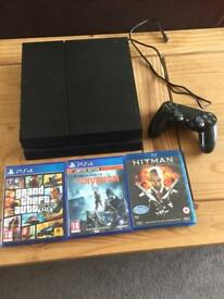 PS4 500gb with one controller and 2 games n blue ray