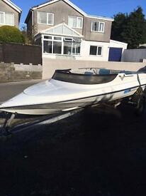 Simms super v speed boat with trailer