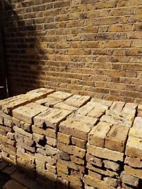 625 London Stock Bricks & 400 halves - all clean of mortar. Great condition. £850