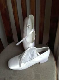 Girls White Shoes - Size 3