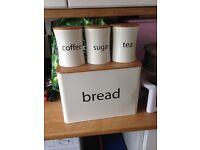Matching breadbin & tea/coffee/sugar canisters