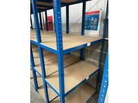 Blue storage racking