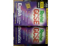 GCSE revision books English Mathmatics and Design & Technology