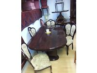 beautiful italian dining table and 4 chairs. excellent condition.