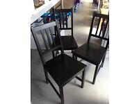 Set of 3 IKEA STEFAN Chairs