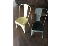 Metal Dining Chairs in Yellow and Grey (24 available) - Ref 1244