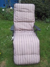 Reclining Garden Chair - Hardly Used