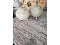 Rustic stone table lamps