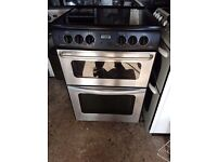 NEW WORLD BLACK/STAINLESS STEEL 60cm ELECTRIC COOKER, NEW MODEL ,EXCELLENT COND, 4 MONTHS WARRANTY