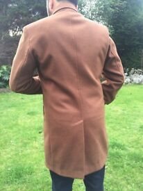 Brown Wool Trench Coat