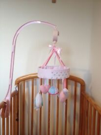 Pink cot mobile (Mothercare Little Lane)