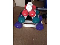 Dumbbell weight with stand