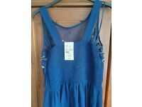 Quiz blue long gown size 16 New with tags