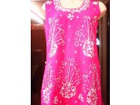BEAUTIFULL PINK AND SILVER 3 PIECE PATIALA SUIT WEDDINGS,PART WEAR,MENDI,PARTYS, NEW 1 left