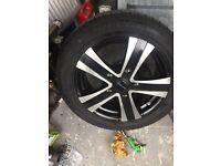 "4x Ford Transit Custom 18"" supermetal alloy wheels&tyres"