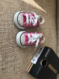 Infant pink Converse shoes
