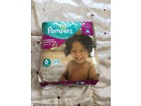 Brand new pack Pampers size 6 nappies