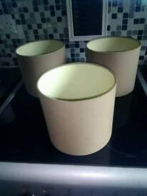 Three lampshades