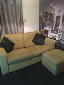 Dfs sofa bed and square storage unit