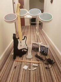 Wii Rockband Bundle x2 games and complete band set