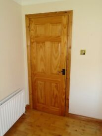 Quality Pine doors complete with attractive black handles and hinges.From pet and smoke free home.