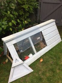 Wooden bantam ark/ rabbit and guinea pig house and run