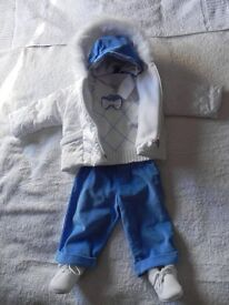 Baby boy christening outfit suit. Size 3-6m (68cm)