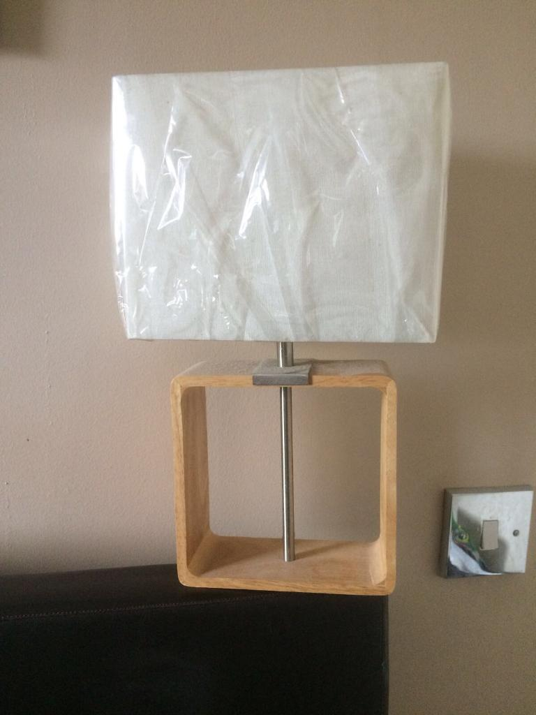 2x matching modern bedside lamps