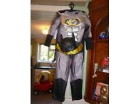 childs batman fancy dress outfit age 5/6 years