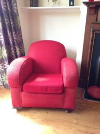 Art Deco Red Armchair