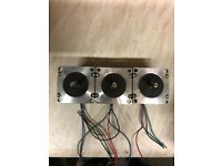 3 CNC 4 WIRE STEPPER MOTORS USED