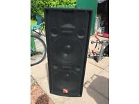 Large pair of speakers DJ system sound system