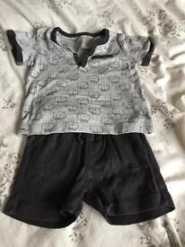 Boys Mamas & Papas shorts set 6-9 months