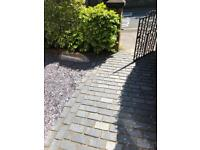 Black limestone cobbles around 4m2 - new