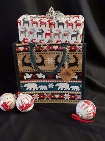 NEW Fair trade jute Christmas/Winter bag