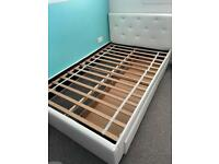 White leather small double bed need gone asap