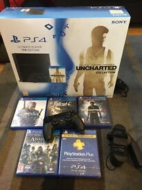 Playstation PS4 1TB Bundle (comes with 1 year subscription to Playstation Plus!)