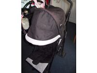 black pushchair, by Silver Cross, £40 or best offer