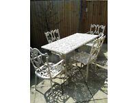 Wrought Iron Garden Furniture Set