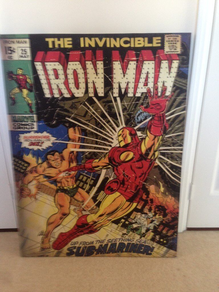 Marvel Iron Man Canvas / Picture (Large)