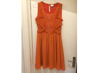 Reiss Silk Dress, Orange